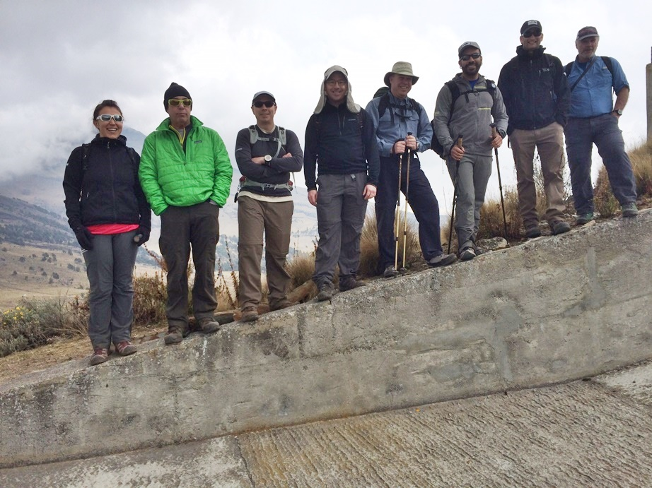 Mexico team on acclimatization hike