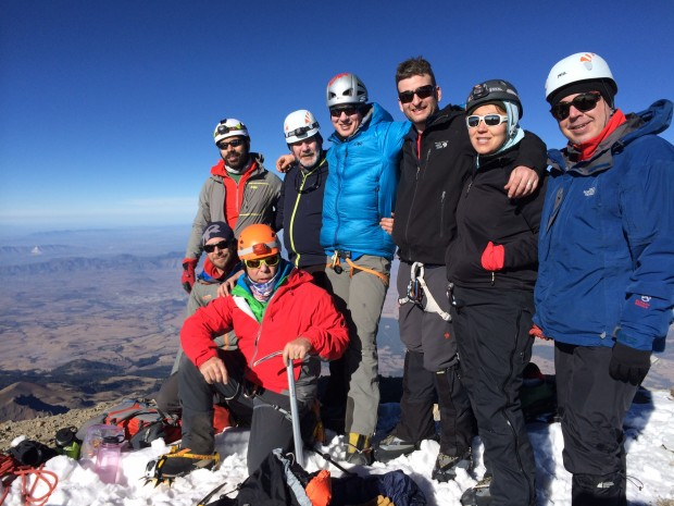 The team on top of Orizaba.