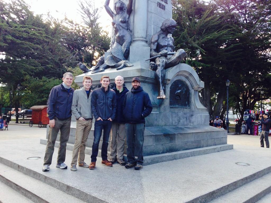 Taking the tour around Punta Arenas before their flight to Antarctica.