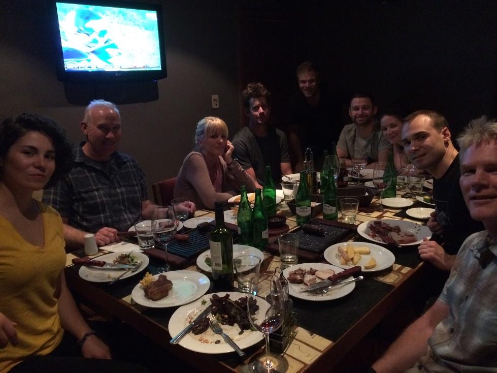 Aconcagua team at dinner
