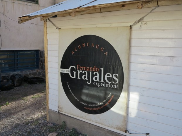 Grajales Expeditions has been our service provider on Aconcagua since 1981