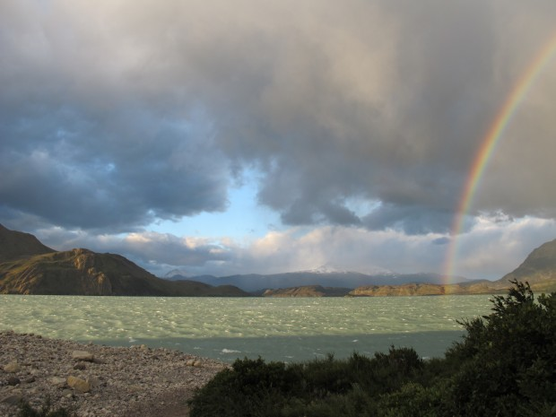 Hopefully they'll get rewared with a nice sunset over Lake Nordenskjold from Refugio Los Cuernos. (Photo Tye Chapman)