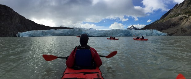 The Grey Glacier up close and personal! (Photo by Tye Chapman)