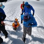 Rescue training on Mt. Rainier.