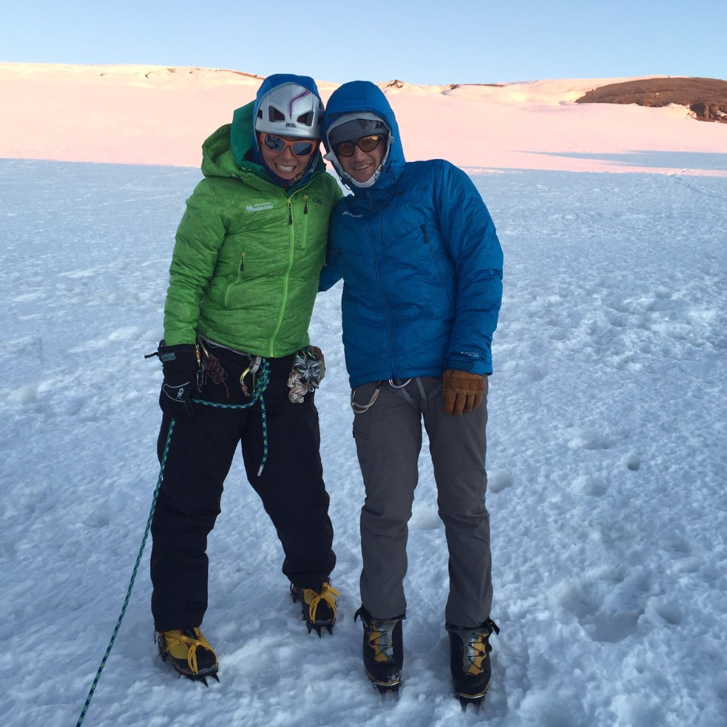 Mike Haft with Sara Cohen, on his 100th Summit