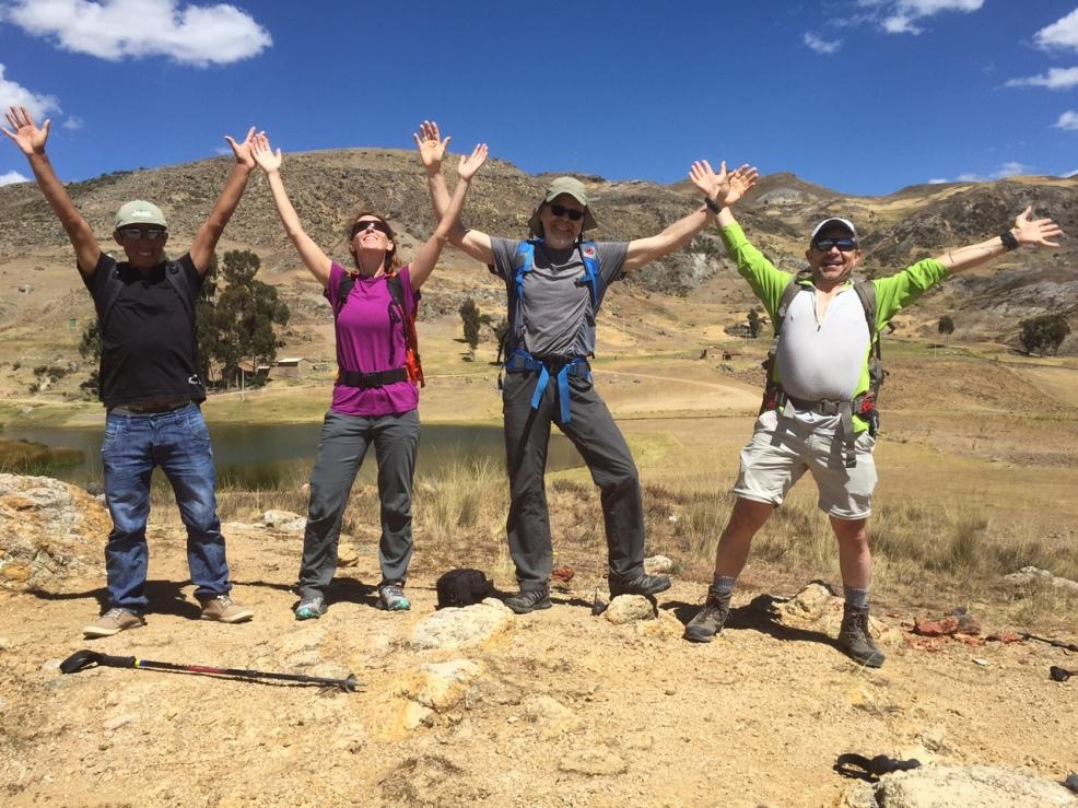 Taken at 12,000'...enjoying the beautiful country and mountains of Peru! (Photo: Jason Edwards)
