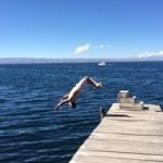 Flipping over Lake Titicaca. (Luke Reilly)