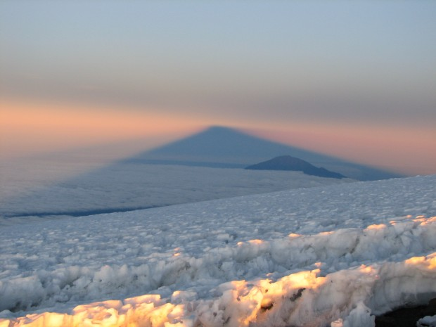 Classic sunrise shadow on Kilimanjarol (Greg Vernovage)