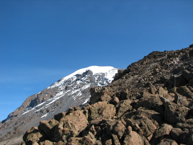 The Summit from Barafu         (Greg Vernovage)