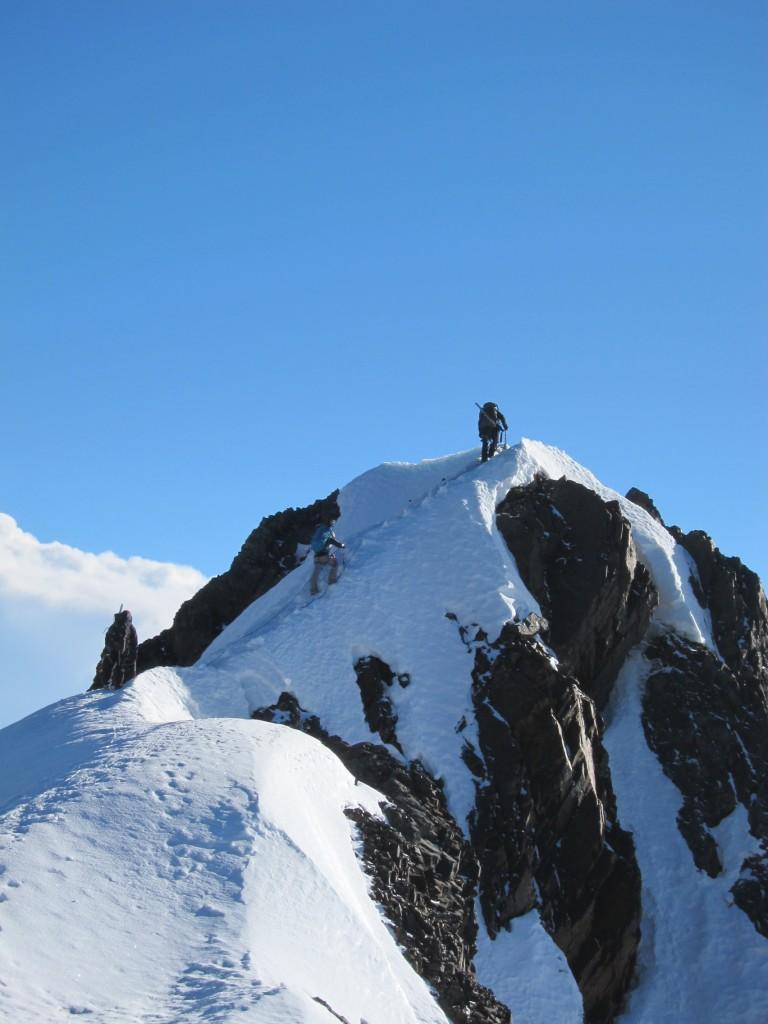 "Ridge climb to the ""first"" summit. (Greg Vernovage)"