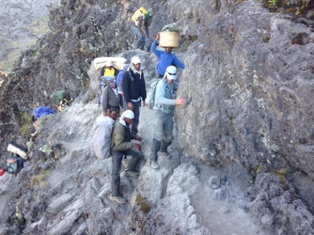 Working through the Barranco Wall  (Dustin Balderach)
