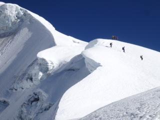 Huayna Potosi glacier from high camp (Luke Reilly)
