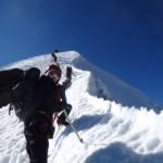 Huayna Summit Ridge. (Luke Reilly)