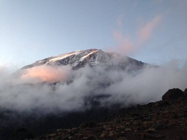 The Team's view of Kilimanjaro today