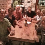 The team at Fire and Ice, our favorite pizza place in Kathmandu.