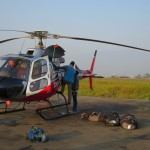Loading the heli in Kathmandu (Eric Simonson)
