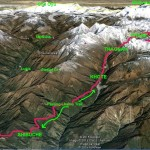 Mera route on Google Earth