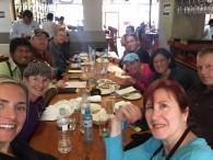 Salkantay trek group photo, lunch on day 1