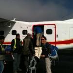 Boarding the plane to Lukla. (Tye Chapman)