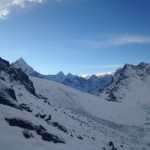 Looking towards Ama Dablam From Lobuche (Cedric Gamble)