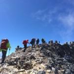 Up the ridge. (Fura Gyalzen)