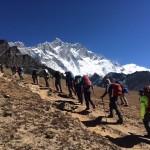 Getting to the climb. (Fura Gyalzen)