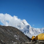 Lobuche HC looking at Ama Dablam (Eben Reckord)