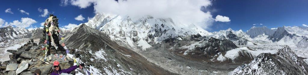 Panoramic view from atop Chukkung Ri. (Photo Tye Chapman)