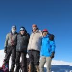 Summit shot from Mera Peak— Dan, Anthony, Eric, Phunuru (Eric Simonson)