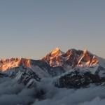 Sunset over Everest and Lhotse on the descent (Eric Simonson)