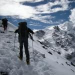 Snowy trail to Mera La (Eric Simonson)