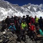 Team photo with Lhotse and Nuptse. (Craig John)