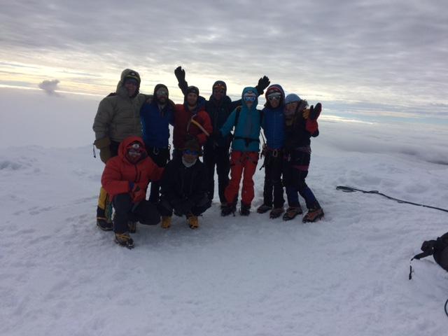 Ecuador Team on summit of Cayambe (Luke Reilly)