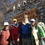 Trekking Team in front of a new building in Phortse  (Craig John)
