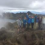 Ecuador team hiking Fuya Fuya