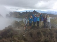 Ecuador team hiking Fuya Fuya
