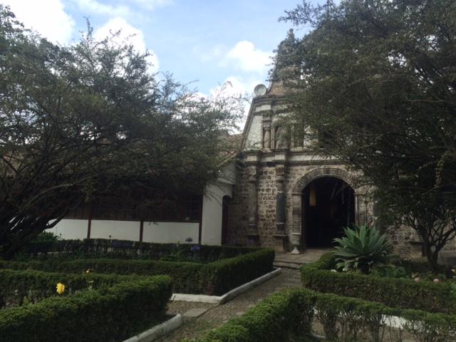 Courtyard at the Hacienda La Cienega