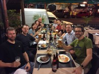 Mike, Betsy and the Aconcagua Team toasting the occasion