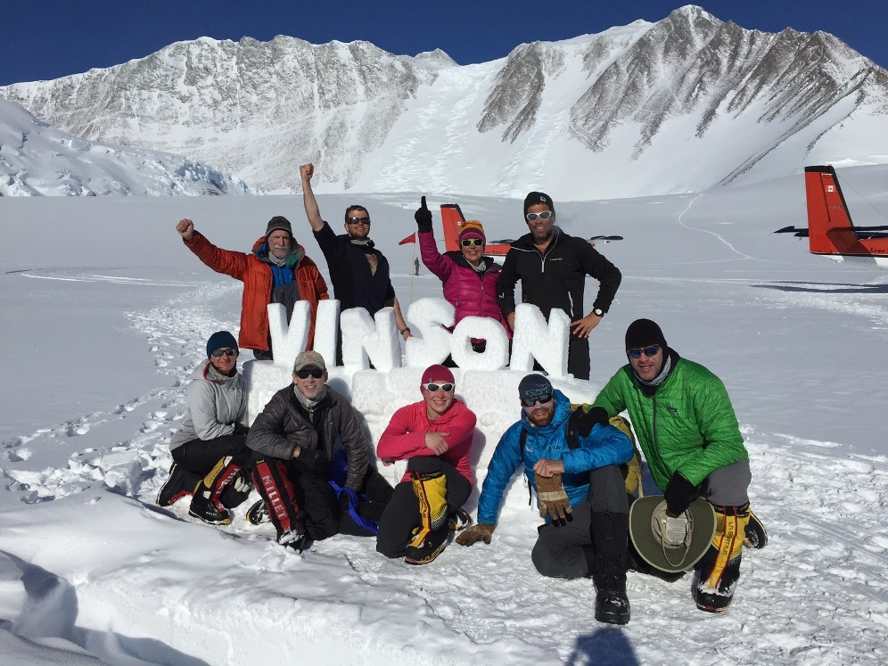 IMG team on Vinson, Antarctica