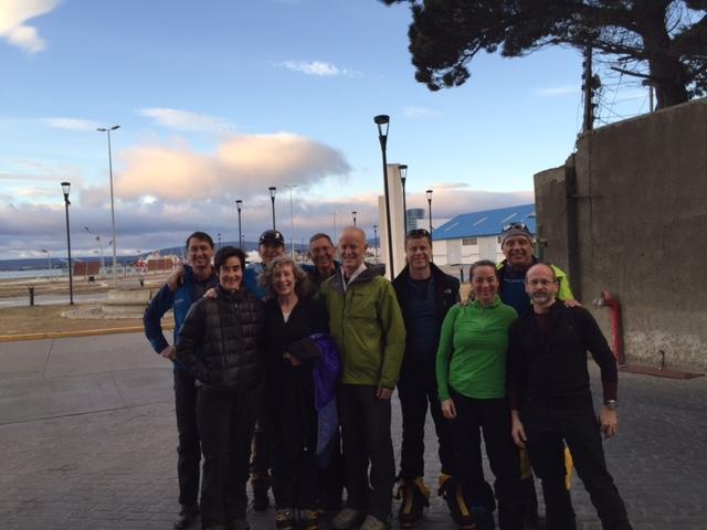 Team photo in Punta Arenas, Chile