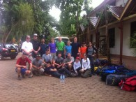 Kili Team  getting ready to hit the trail