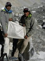 Chewang Lendu and Nuru Gyalzen at Everest BC January 14, 2016