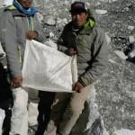 Chewang Lendu and Nuru Gyalzen at Everest BC January 14, 2016