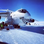 The IL-76 on the ice in Antarctica. (Austin Shannon)
