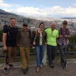 Ecuador team touring Old Town Quito