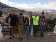 Ecuador team touring Old Town Quito