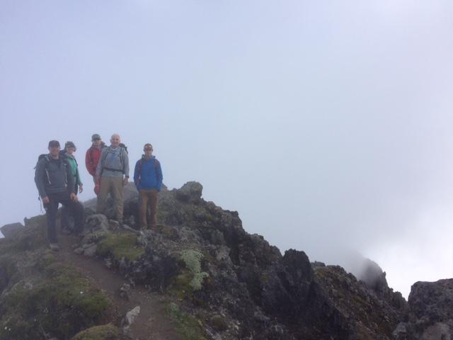 Luke's team on the top of Imbabura.