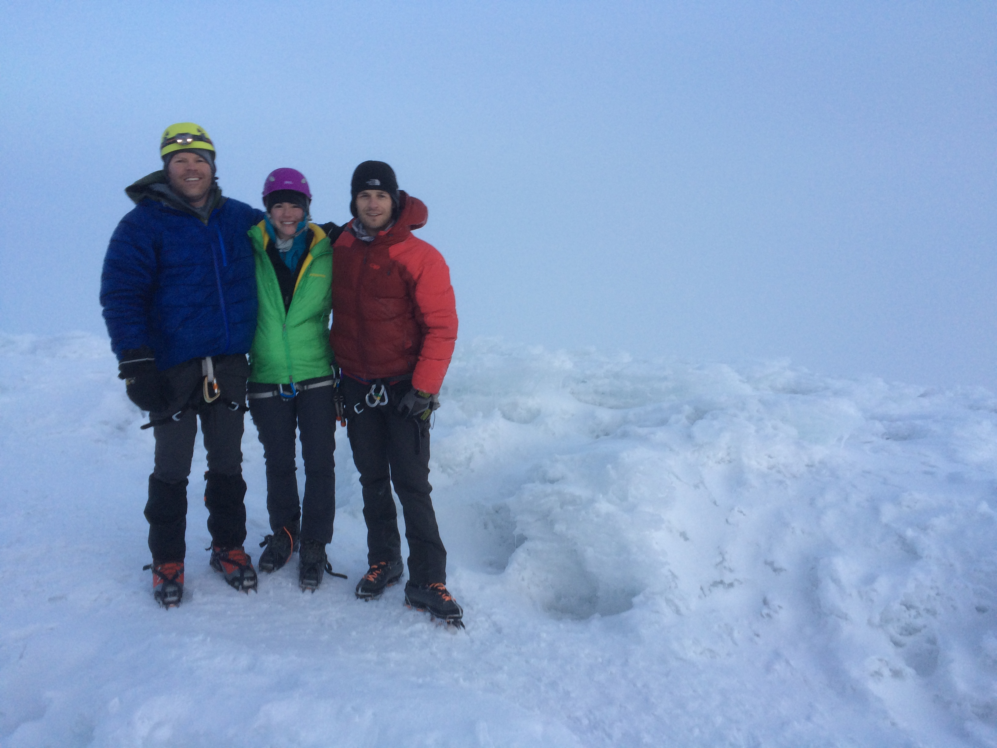 Luke and a couple members of the Cayambe summit team.