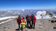 Luke Reilly with the first group of summiters earlier this week