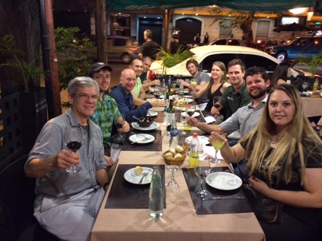 Luke's crew last night in Mendoza